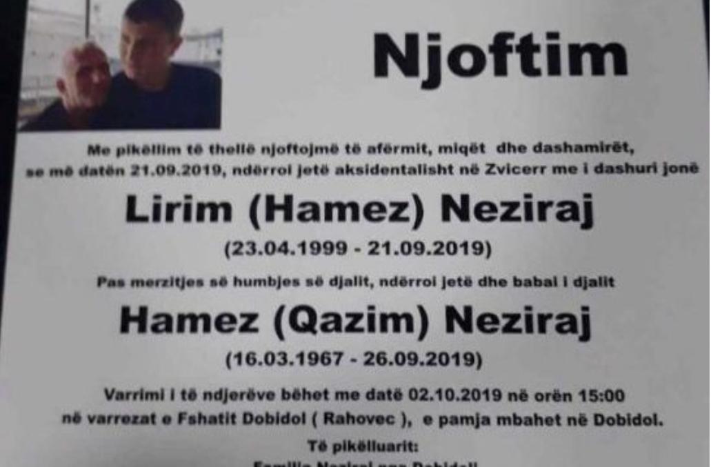 Tragjedi familjare  Vdes i biri brenda pak ditësh edhe babai  familja kosovare po përjeton shokun e radhës